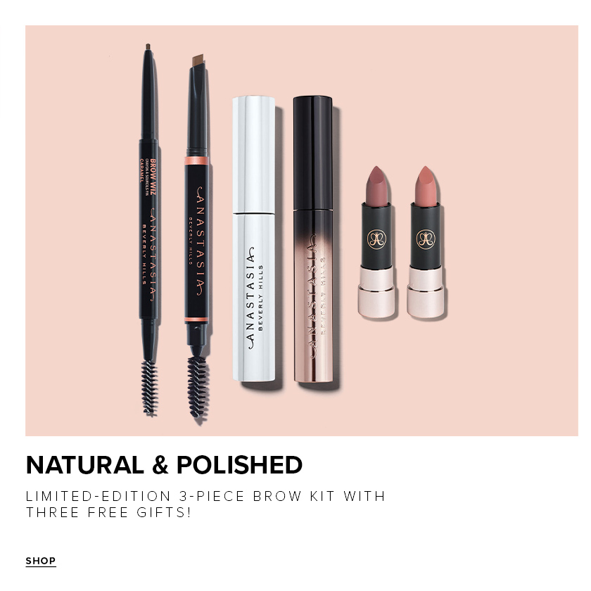 Natural and Polished Kit - Limited Edition 3 Piece Brow Kit with Three Free Gifts