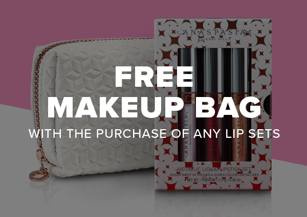 Free Makeup Bag when you buy a lip kit