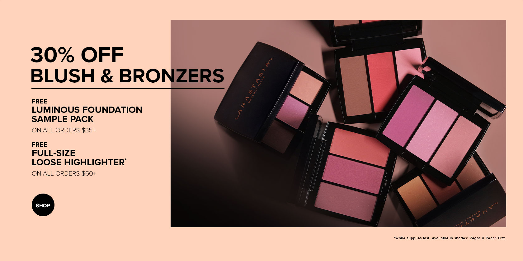 30% off Blush and Bronzers