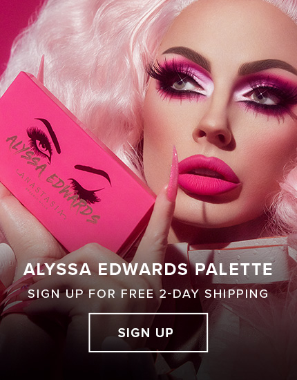 Signup to be the first to know when the Alyssa Edwards Palette Launches + 2day Shipping