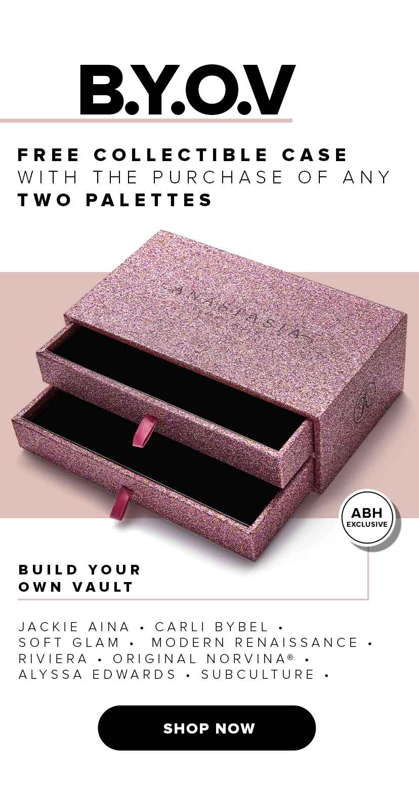 Free Collectible Case when you buy 2 palettes off