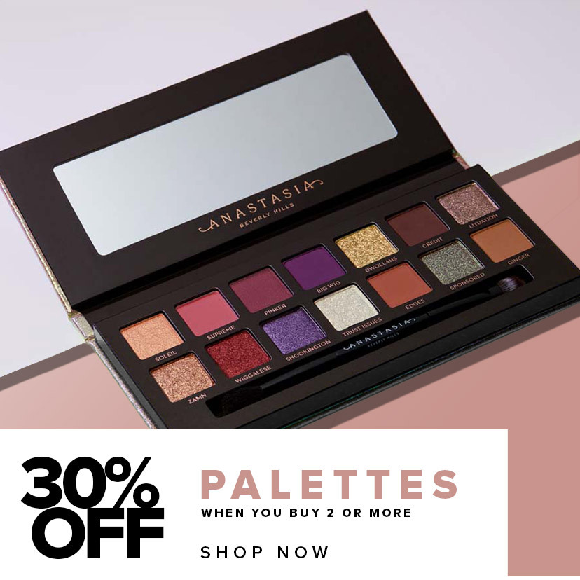 30% off Eye Shadow Palettes when you buy 2 or more - Shop Now