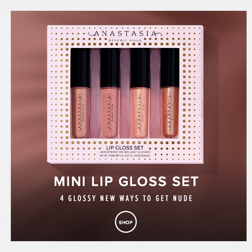 Mini Lip Gloss Set - 4 new glossy ways to get nude