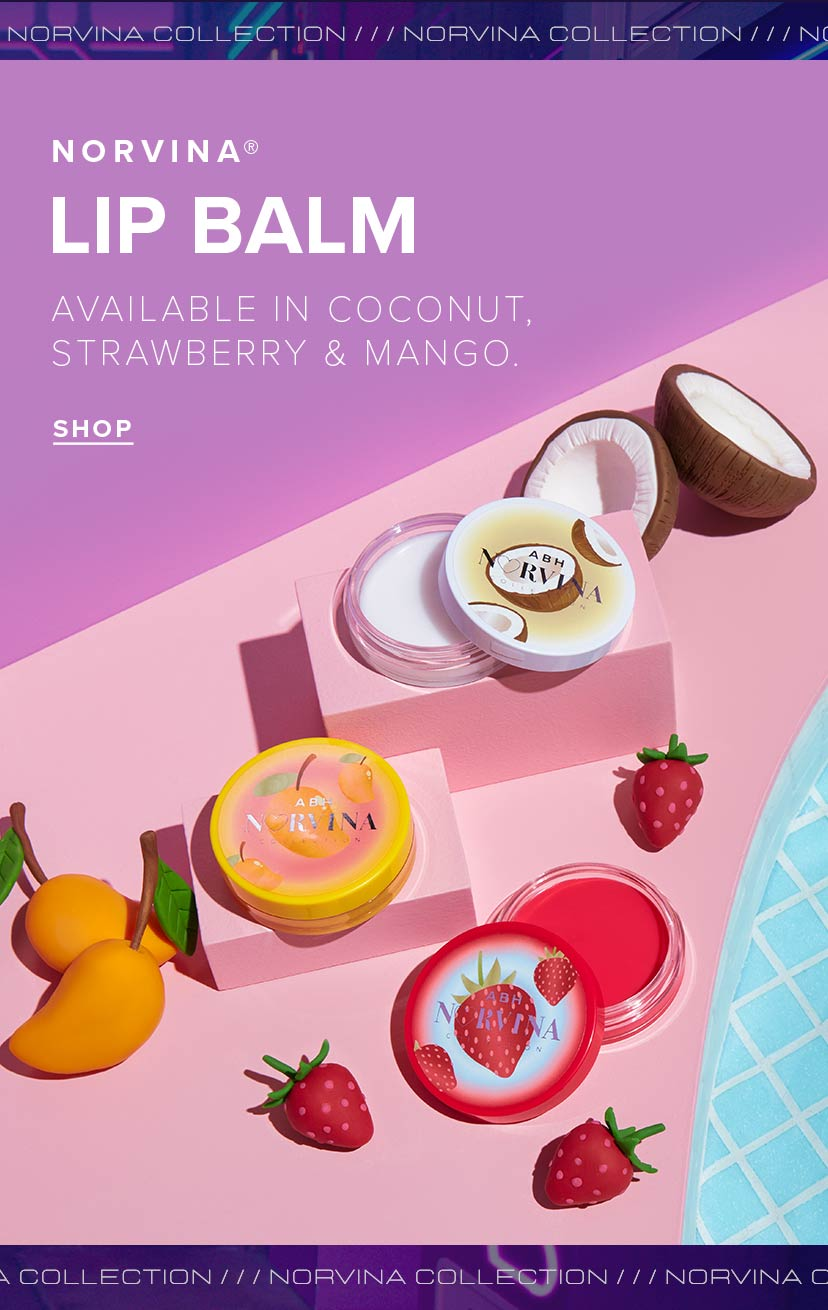 Norvina Lip Balm Available in Coconut, Strawberry, and Mango