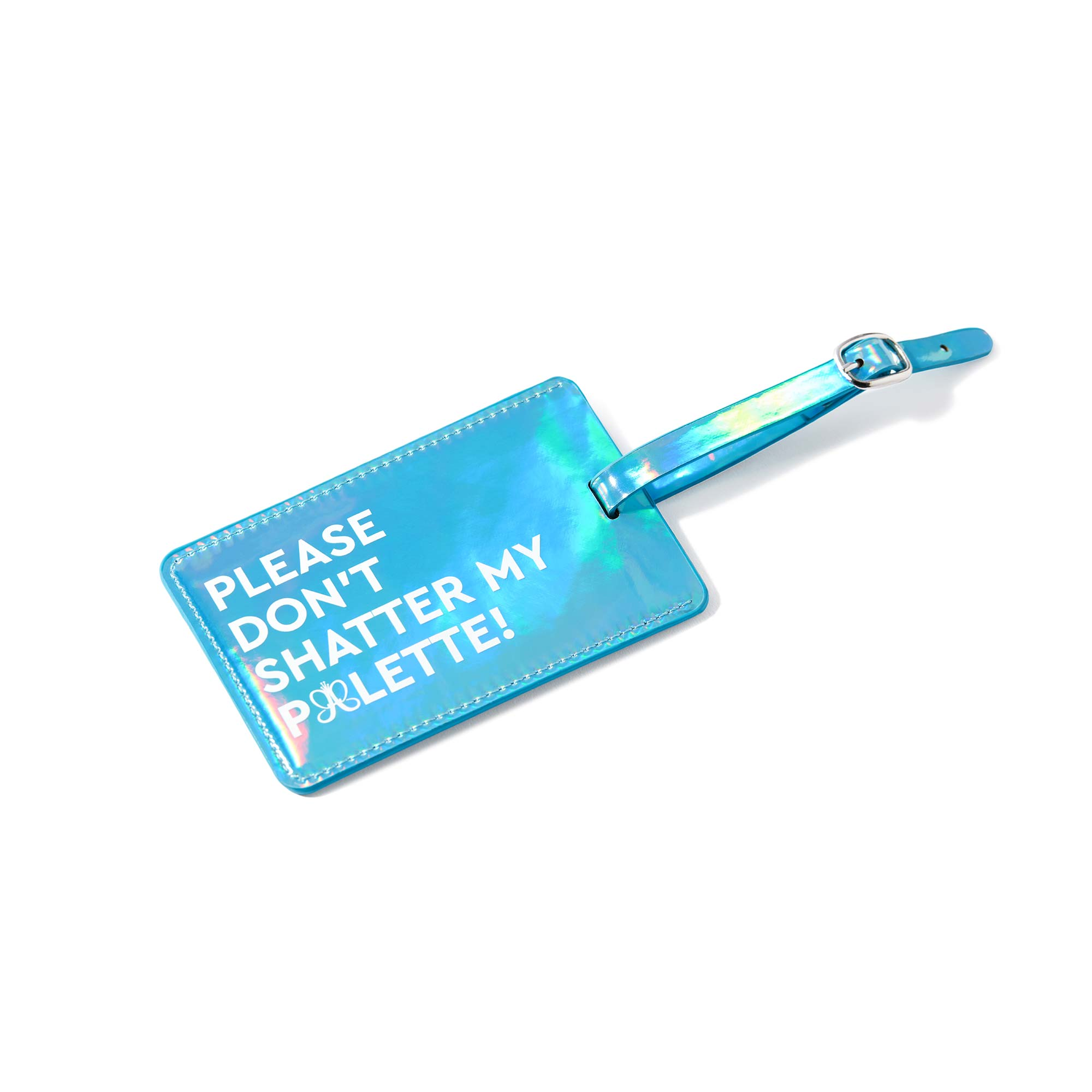 ABH Luggage Tag - Metallic Aqua Blue