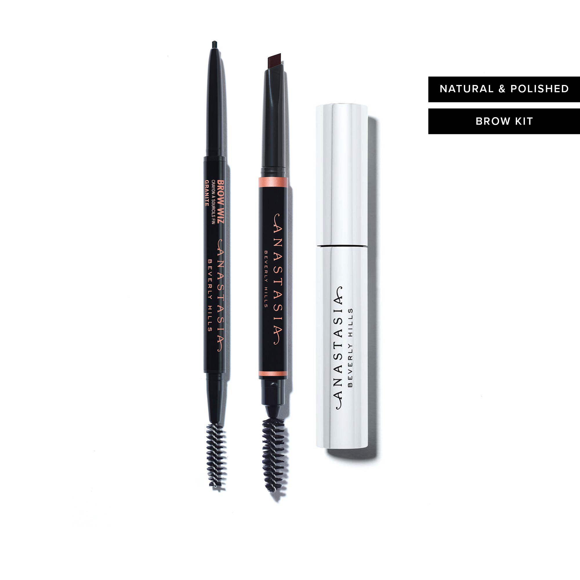 Natural & Polished Brow Kit - Medium Brown and Dark Brown